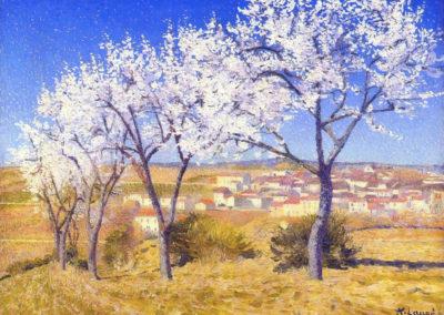 Amandiers en fleurs - Achille Laugé (1909)