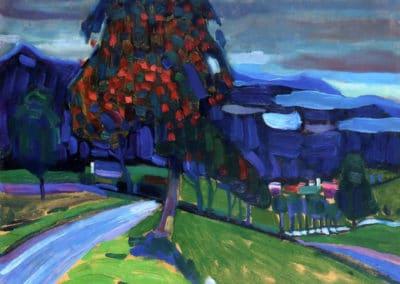 Automne à Murnau - Vassily Kandinsky (1908)