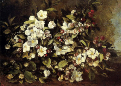 Branche de pommier en fleurs - Gustave Courbet (1871)