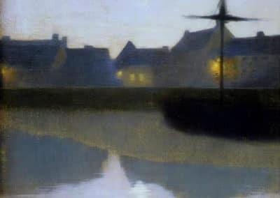 Crépuscule sur le Canal - Emile-René Ménard (1894)