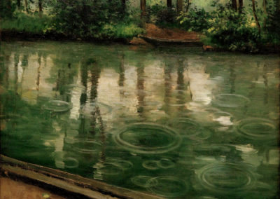 L'Yerres, pluie - Gustave Caillebotte (1875)