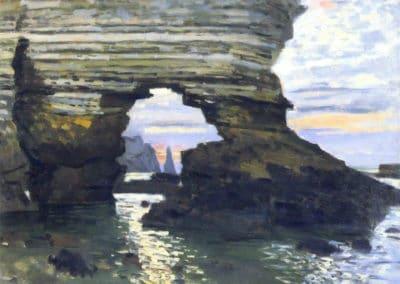La porte d'Amont a Étretat - Claude Monet (1873)