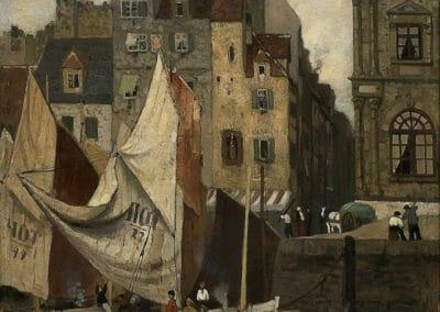 Marée haute, le Havre - Fritz Thaulow (1887)