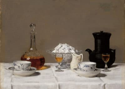 Nature morte au café - Albert Anker (1877)