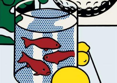 Nature morte aux poissons et à la balle de golf - Roy Lichtenstein (1972)