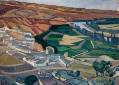 Paisaje cerca de Toledo - Diego Rivera (1913)