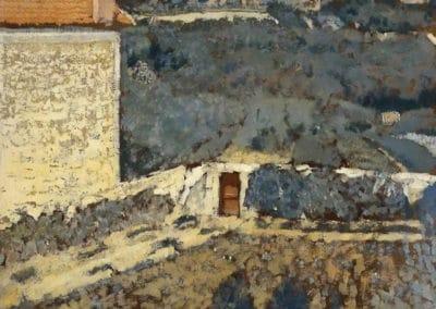 Paysage, maison à gauche - Édouard Vuillard (1900)
