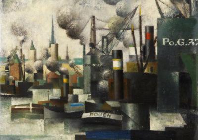 Port de Rouen - Pierre Hodé (1926)