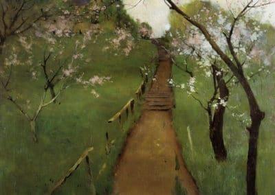 Spring landscape - Arthur Wesley Dow (1892)