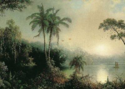 Sunrise in Nicaragua - Martin Johnson Heade (1868)