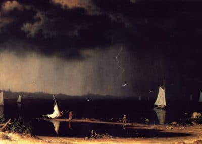 Thunderstorm on Narragansett bay - Martin Johnson Heade (1868)