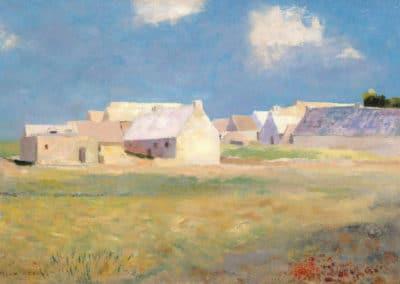 Village breton - Odilon Redon (1890)