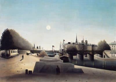 Vue de l'ile Saint Louis, près du port Saint Nicolas -Henri Rousseau (1888)