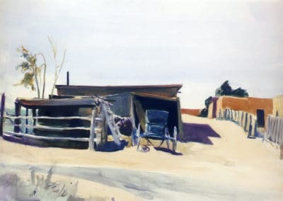 Adobes and shed, New Mexico - Edward Hopper (1921)