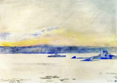 Afterglow, Gloucester Harbor - Childe Hassam