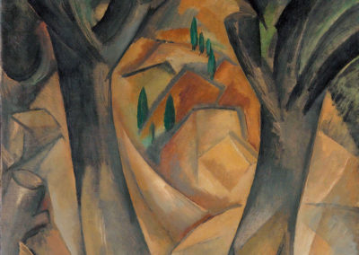 Arbres à Estaque - Georges Braque (1908)