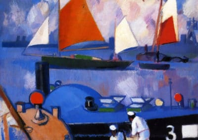 Bathers and yachts - John Duncan Fergusson (1931)