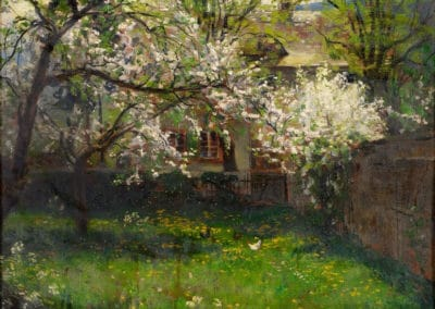 Blossoming cherry trees - Fritz von Wille