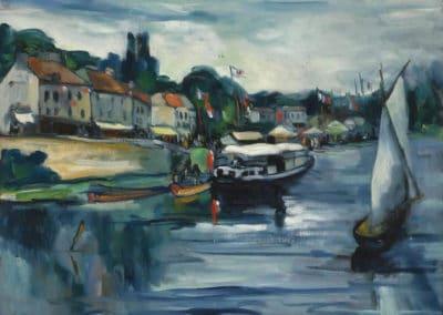 Bord de rivière, 14 juillet - Maurice De Vlaminck