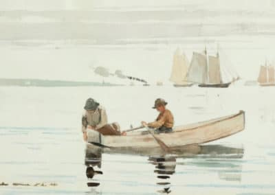 Boys fishing, Gloucester Harbor - Winslow Homer (1880)