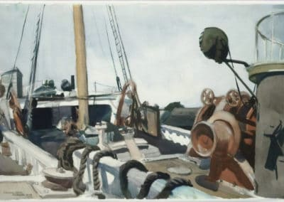 Deck of a beam trawler, Gloucester - Edward Hopper (1927)