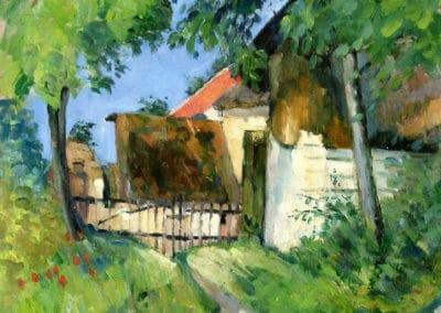 Entrée de ferme, rue Rémy à Auvers-sur-Oise - Paul Cézanne (1873)