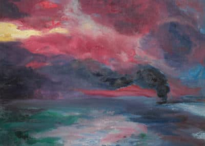 Evening autumn sea - Emil Nolde (1899)