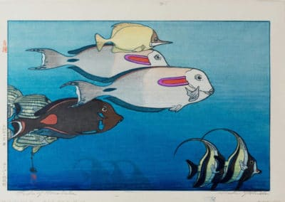 Honolulu aquarium - Yoshida Hiroshi (1925)