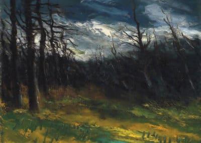 La foret et son ciel de tempête - Maurice de Vlaminck (1924)
