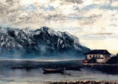 Le port de Clarens sur le lac de Geneve - Gustave Courbet (1874)