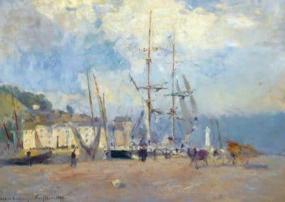 Le port de Honfleur - Albert Lebourg (1898)