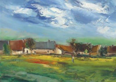 Le village ensoleillé - Maurice de Vlaminck (1925)