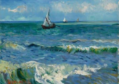 Mer près des Saintes-Maries-de-la-Mer - Vincent van Gogh (1890)