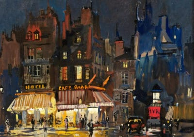 Paris by night rue Lepic in Montmarter - Konstantin Korovin (1900)