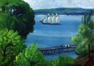 Passing schooner - John Sloan (1917)