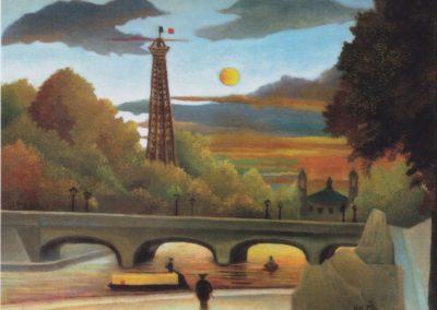 Seine et Tour Eiffel au soleil couchant - Henri Rousseau (1910)