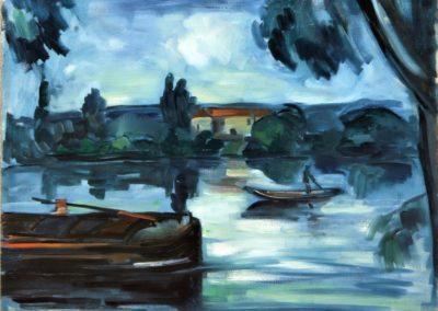 Sur la Seine - Maurice de Vlaminck (1909)