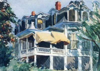 The mansard roof - Edward Hopper (1923)