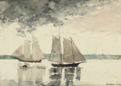 Two schooners - Winslow Homer (1880)