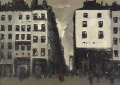 Vue d'une rue de Paris - Jan Rijlaarsdam (1962)