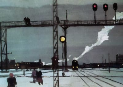 At the railroad tracks. Morning - Georgy Nissky (1957)