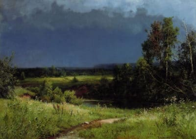 Avant la tempête - Ivan Ivanovich Shishkin (1884)