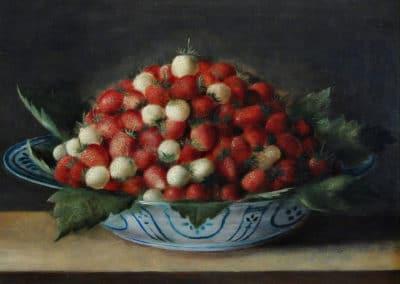 Bol de fraises - Sebastian Stoskopff (1620)