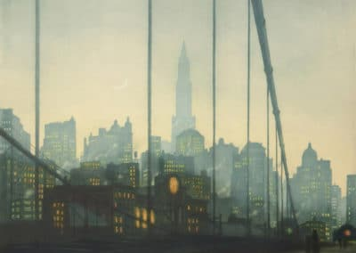 Brooklyn bridge, New York - T.F. Šimon (1927)