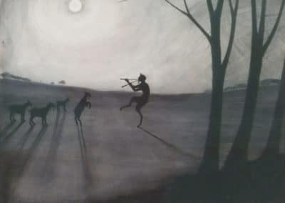 Faun by moonlight - Léon Spilliaert (1900)