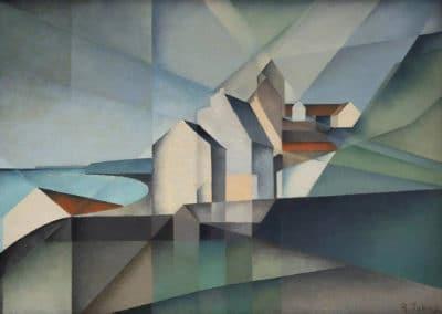 Häuser an der Steilküste von Boulogne-sur-Mer - Rudolf Jahns (1931)