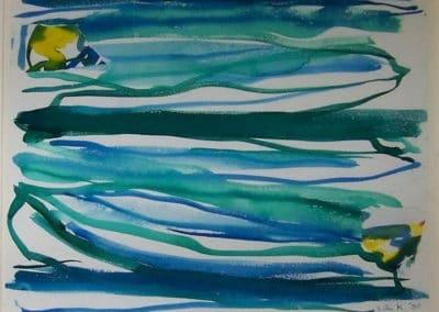 Italian Summer - Elaine de Kooning (1970)