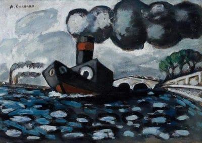 Le remorqueur bleu - Auguste Chabaud (1927)