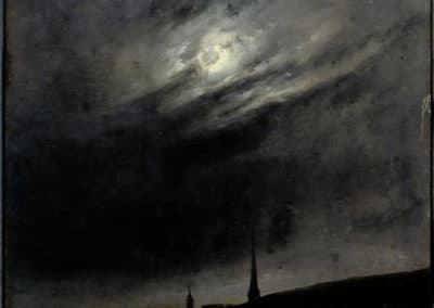 Moonlit night over Dresden - Johan Christian Dahl (1827)