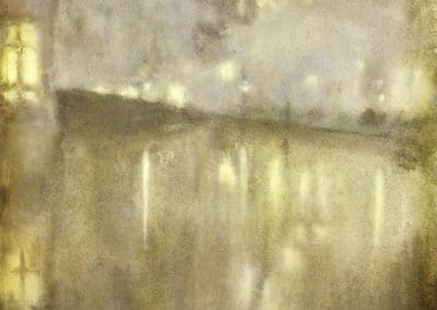 Nocturne grey and gold - James Whistler (1883)
